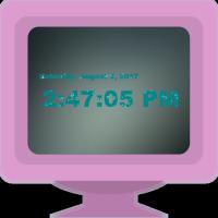 نمایش زمان در قالب یک ساعت دیجیتال پویا بر روی دسکتاپ