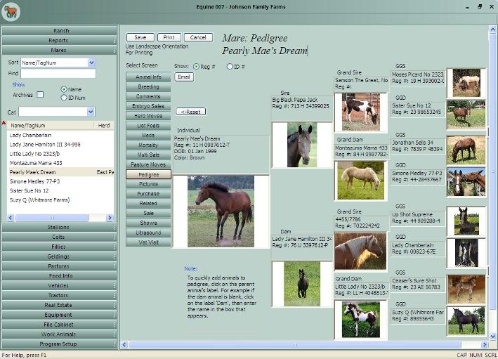 نرم افزار Equine Manager