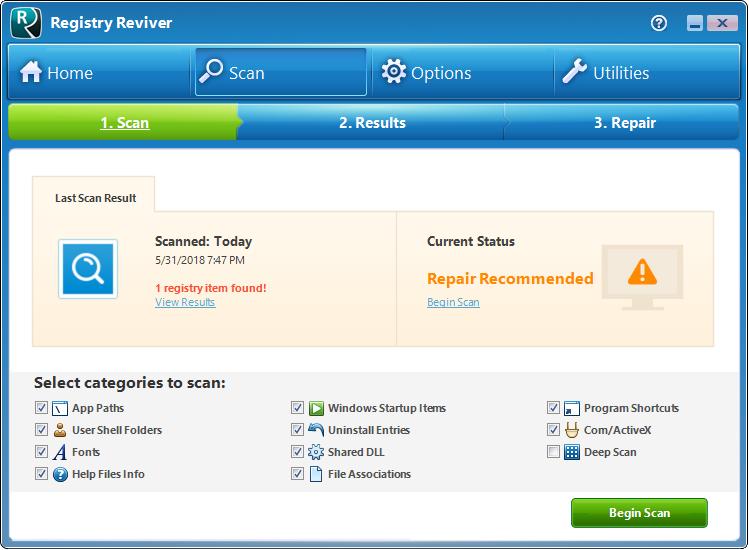 دانلود نرم افزار Registry Reviver
