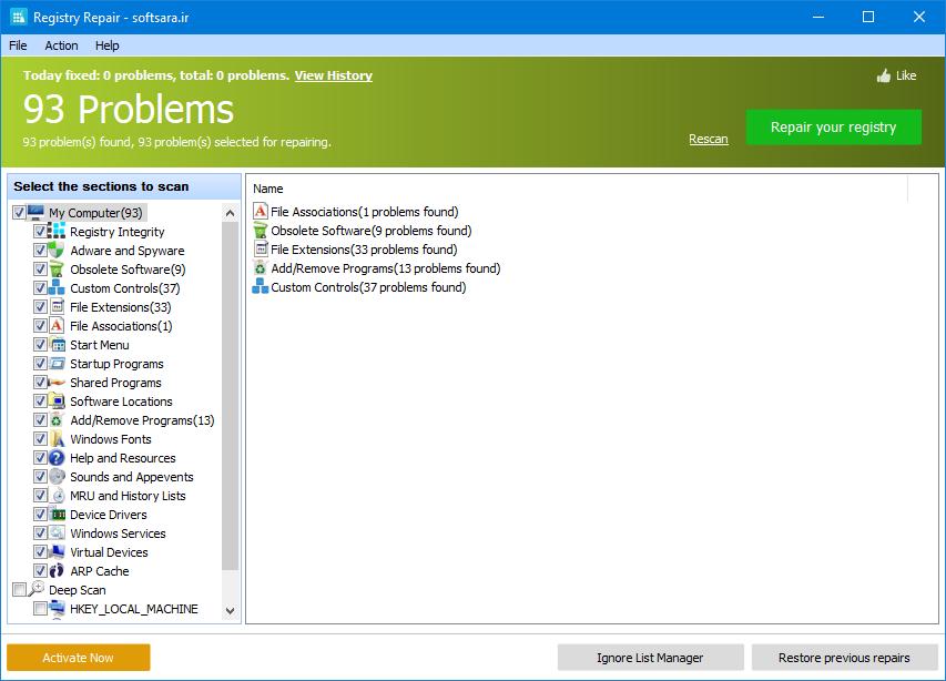 دانلود نرم افزار Registry Repair