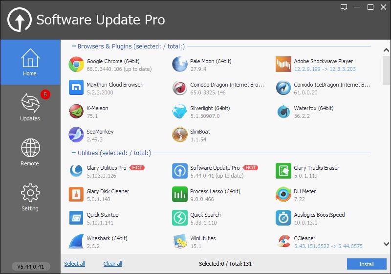 دانلود نرم افزار Glary Software Update Pro