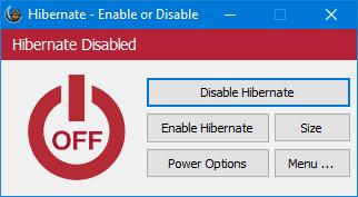 Hibernate Enable or Disable