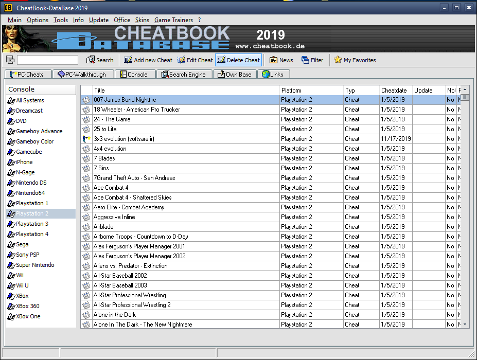 دانلود نرم افزار CheatBook DataBase