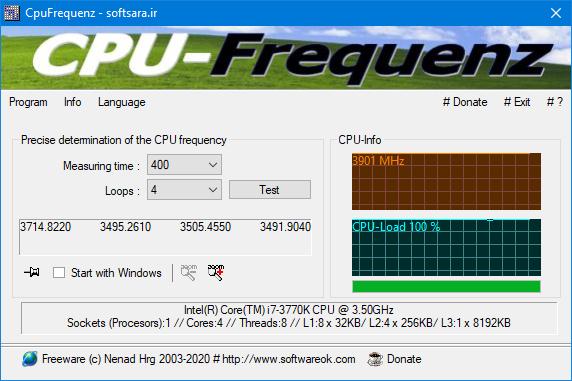 دانلود نرم افزار CpuFrequenz