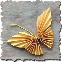 آموزش ساخت اوریگامی پروانه سه بعدی