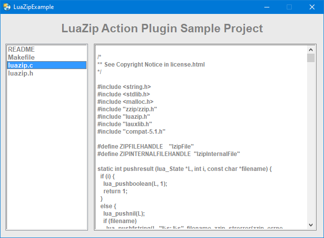 AMS LuaZip Plug-in
