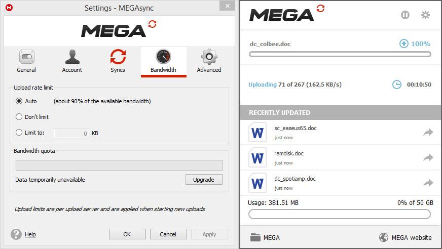 دانلود نرم افزار MEGAsync