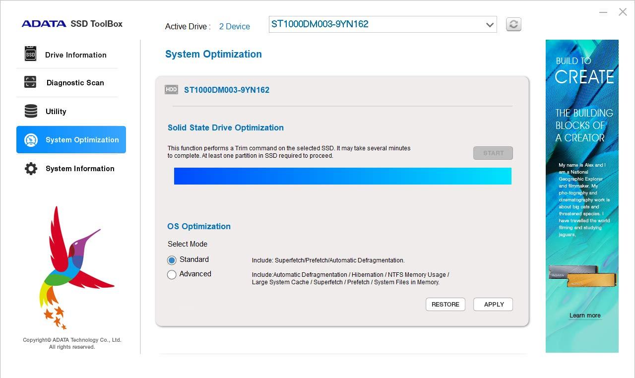 دانلود نرم افزار ADATA SSD ToolBox