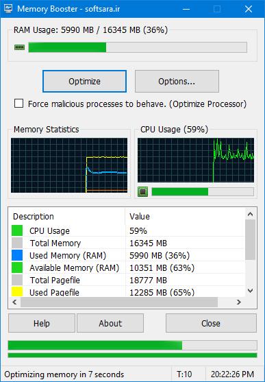 دانلود نرم افزار Memory Booster