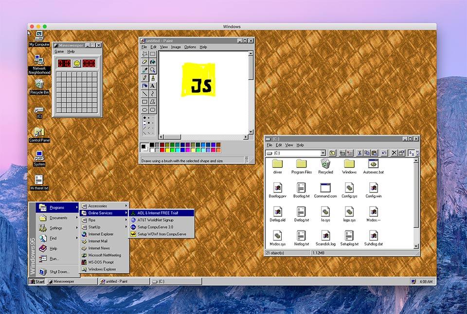 دانلود نرم افزار ویندوز 95