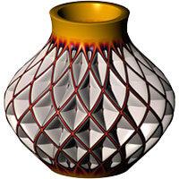 طراحی مدل سه بعدی ظروف سفالی