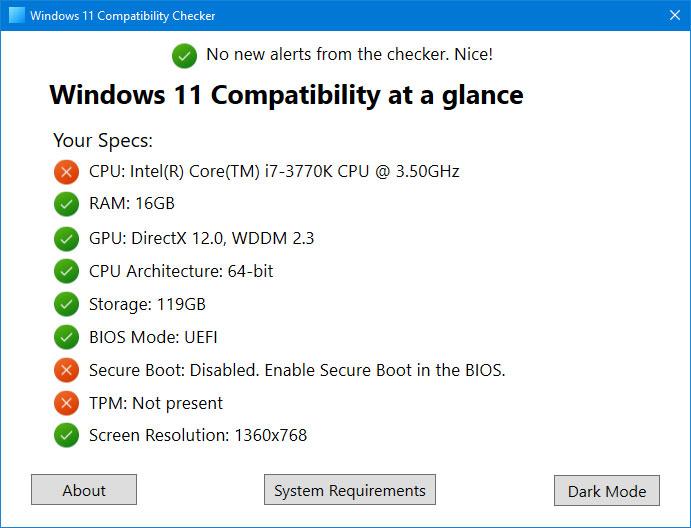 دانلود نرم افزار Windows 11 Compatibility Checker