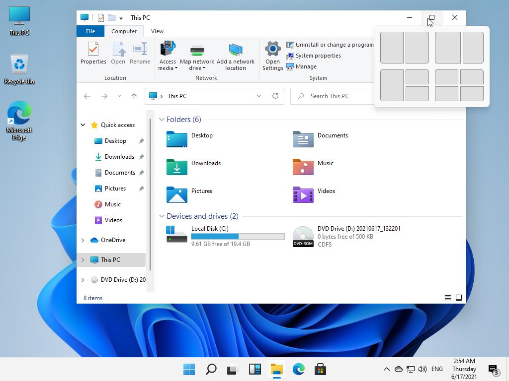 قابلیت انسپ در ویندوز 11